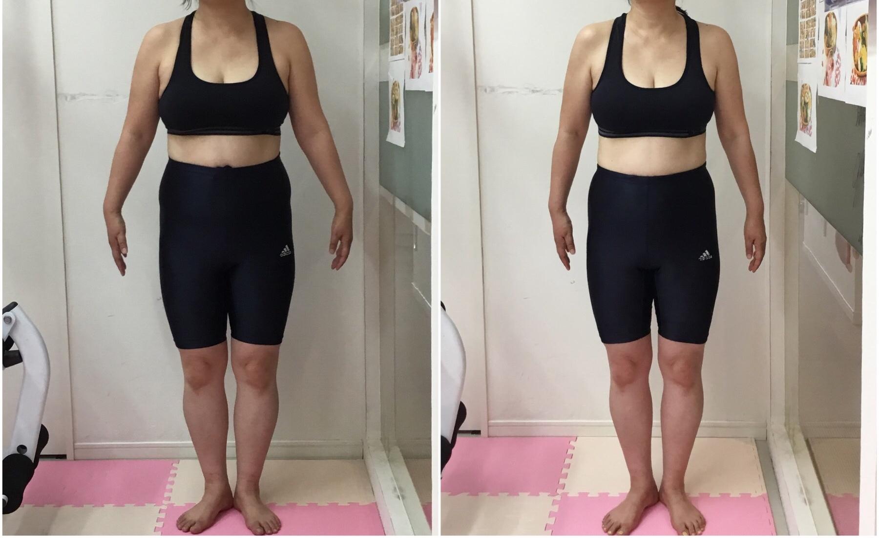 50代女性のトレーニング、ウエスト、太もももサイズダウン
