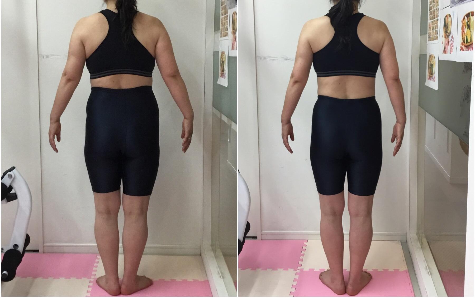 50代女性のトレーニングダイエット、ウエスト、太ももサイズダウン