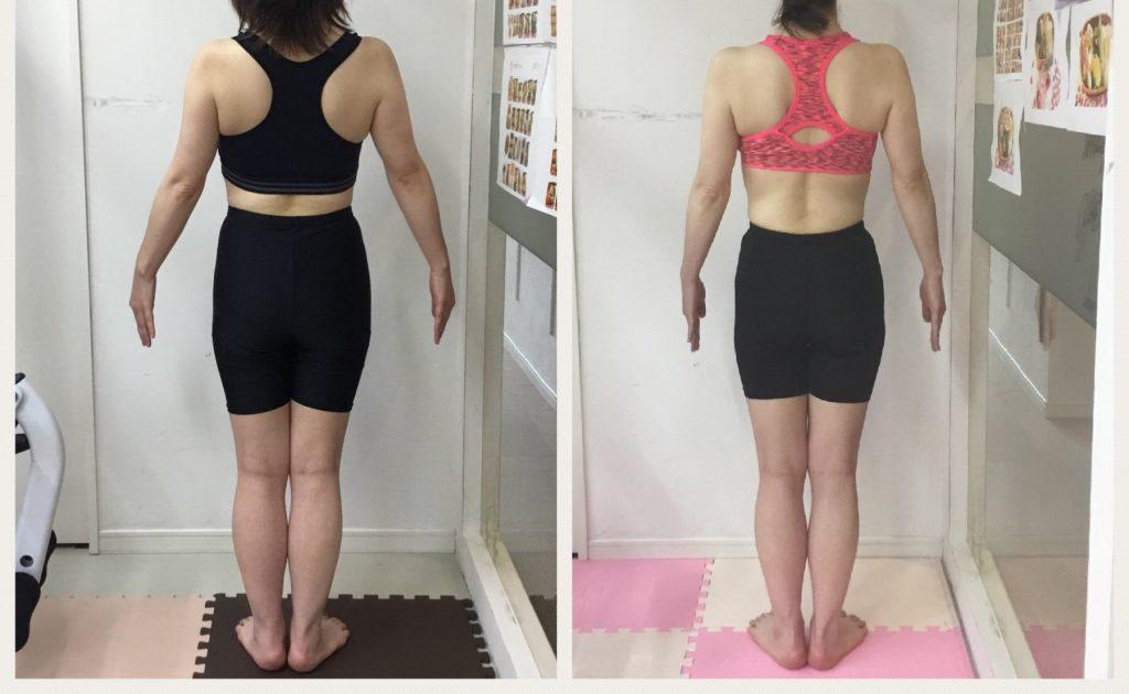 太もも、ウエストのサイズダウン、トレーニングでダイエット成功