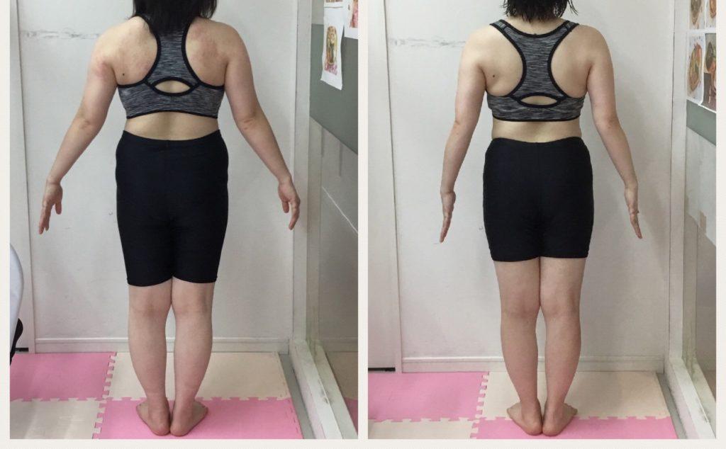 仙台で女性専用パーソナルトレーニングでダイエット 託児ありの産後トレーニング ビフォーアフター
