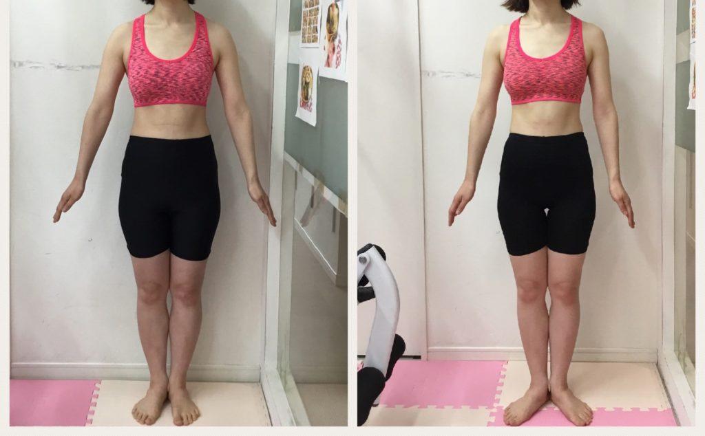 仙台で女性専用パーソナルトレーニングはリアル健康式ダイエット ビフォーアフター