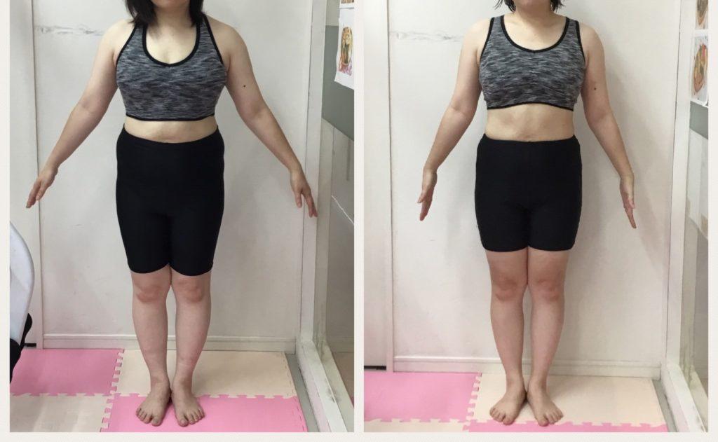 仙台で女性専用パーソナルトレーニングならリアル健康式ダイエット 託児あり産後ダイエット ビフォーアフター