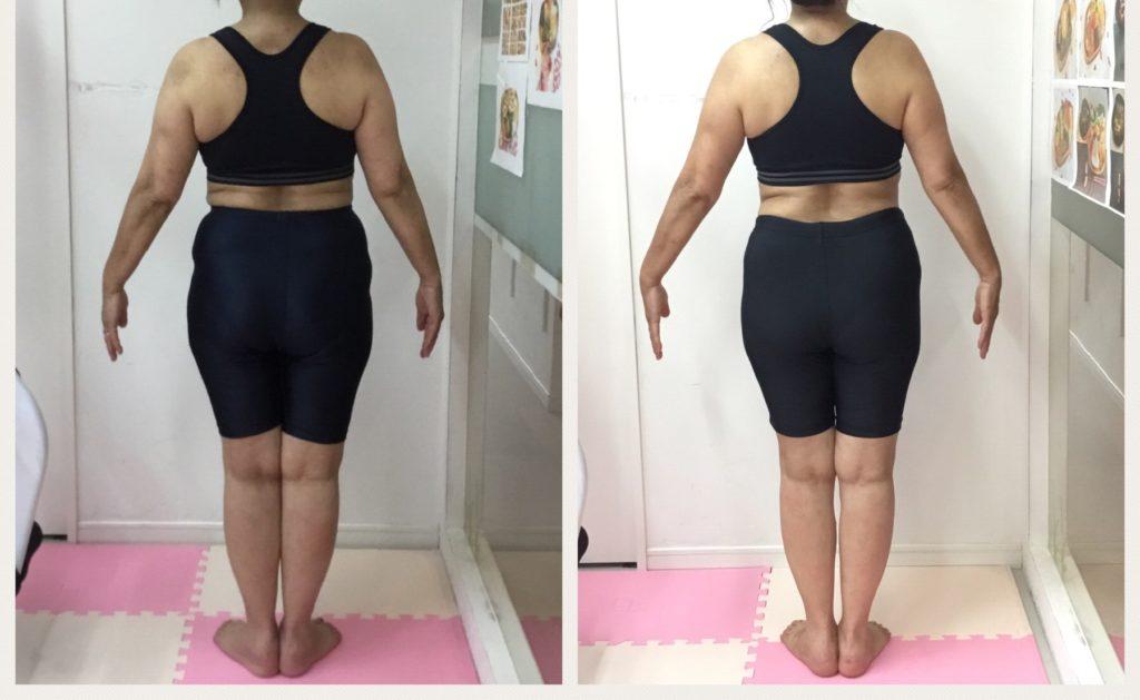 ダイエット成功のビフォーアフター。女性専用のダイエット個別指導