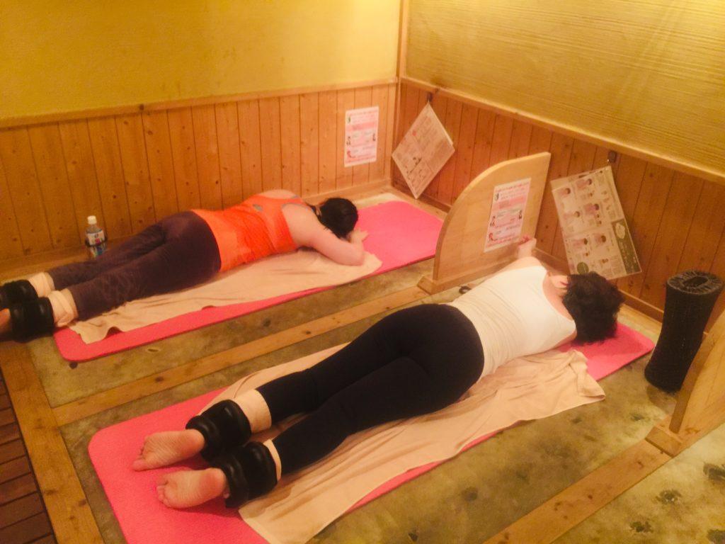 仙台の女性専用岩盤浴 ホットヨガ トレーニング