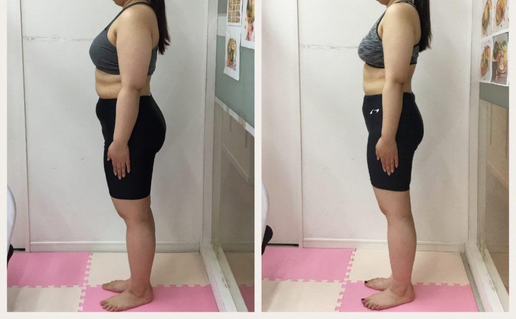 ダイエット成功のビフォーアフター。仙台の女性専用マンツーマントレーニングジム