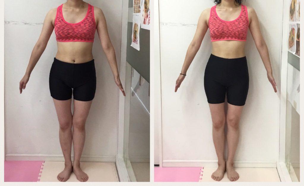 仙台の女性専用パーソナルトレーニングでダイエットならシャンパレス ビフォーアフター
