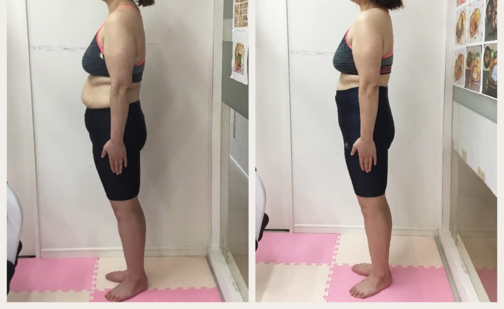 仙台の女性専用パーソナルトレーニングでダイエット ビフォーアフターを投稿