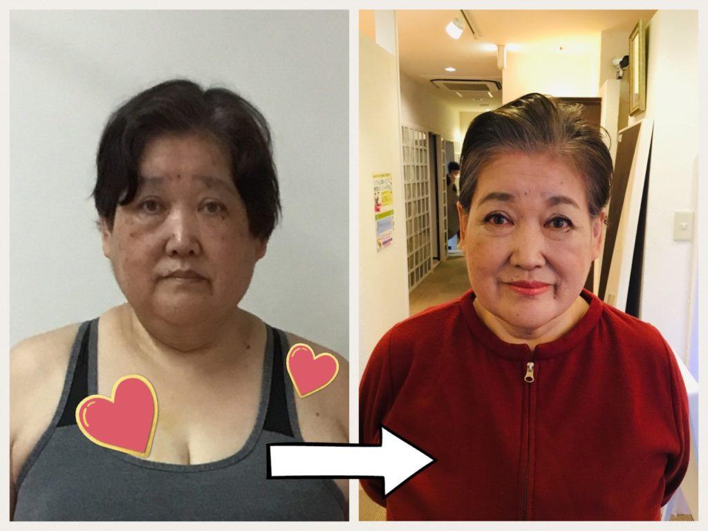 仙台の女性専用パーソナルトレーニングを行うリアル健康式ダイエットですてきにビフォーアフター