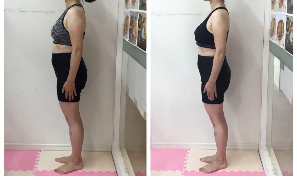 仙台の女性専用パーソナルトレーニングでダイエットビフォーアフター