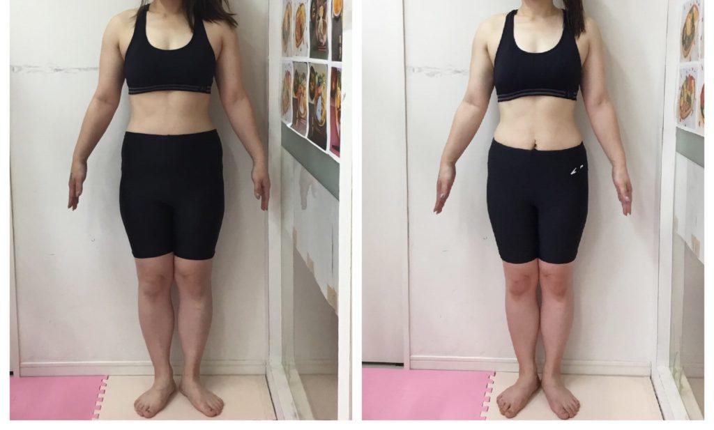 女性専用パーソナルトレーニング 産後ダイエットのビフォーアフター