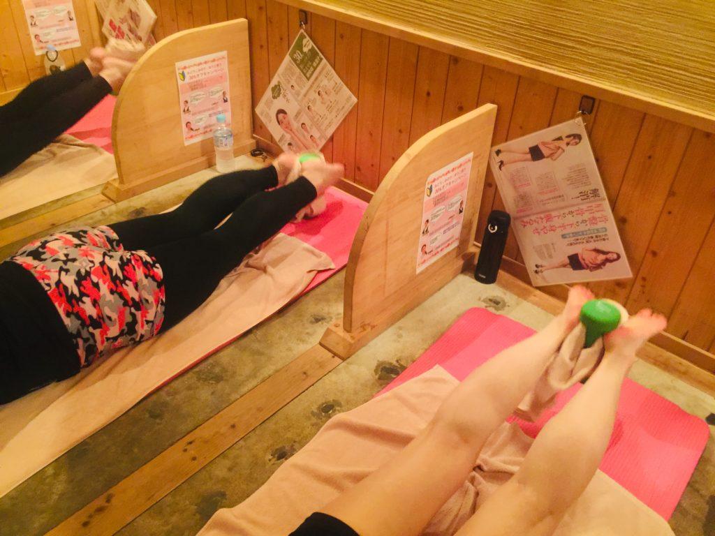 仙台の女性専用 岩盤浴でホットヨガ