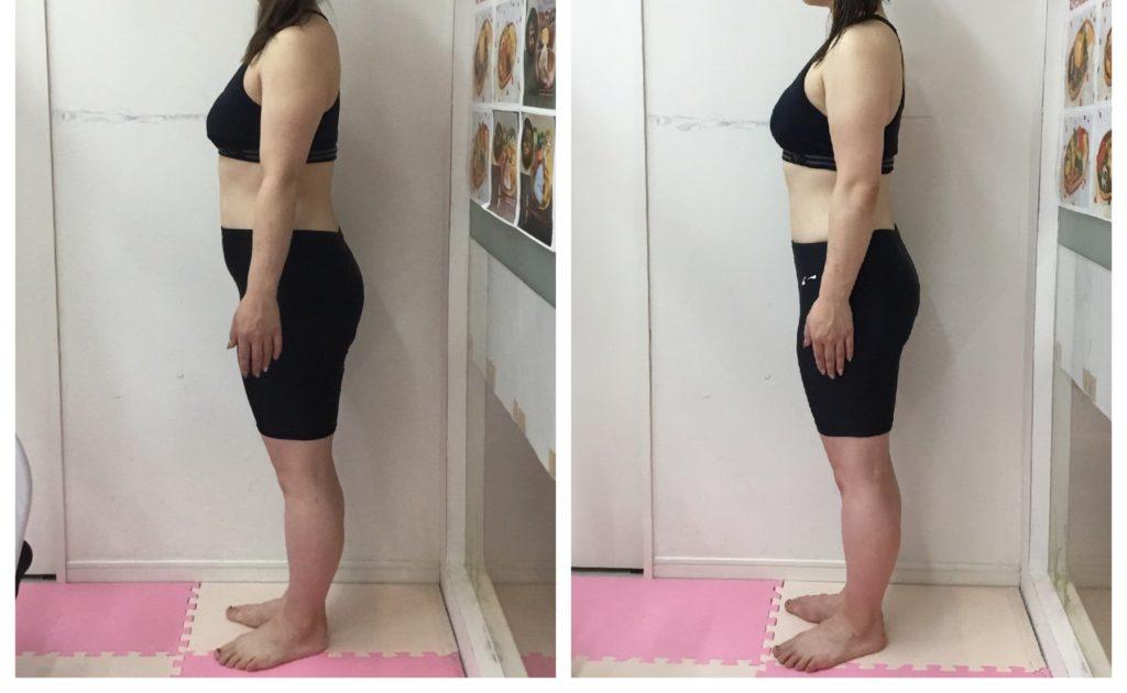 女性専用パーソナルトレーニング 産後ダイエットビフォーアフター