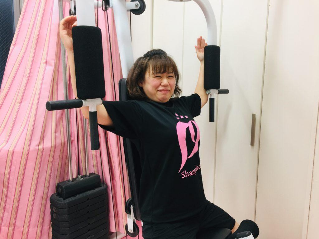 女性専用パーソナルトレーニングはリアル健康式ダイエット トレーニング中